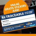 """Gratis """"Be Traceable"""" Stickers"""