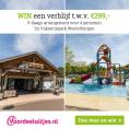 Gratis kans op 5-daags arrangement voor 4 personen bij Vakantiepark Westerbergen t.w.v. €299,-