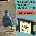 Gratis HiFi Klubben Multitool met meetlint, waterpas, schrijfblok en schrijfmateriaal